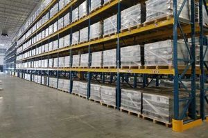 Pallet rack warehouse design